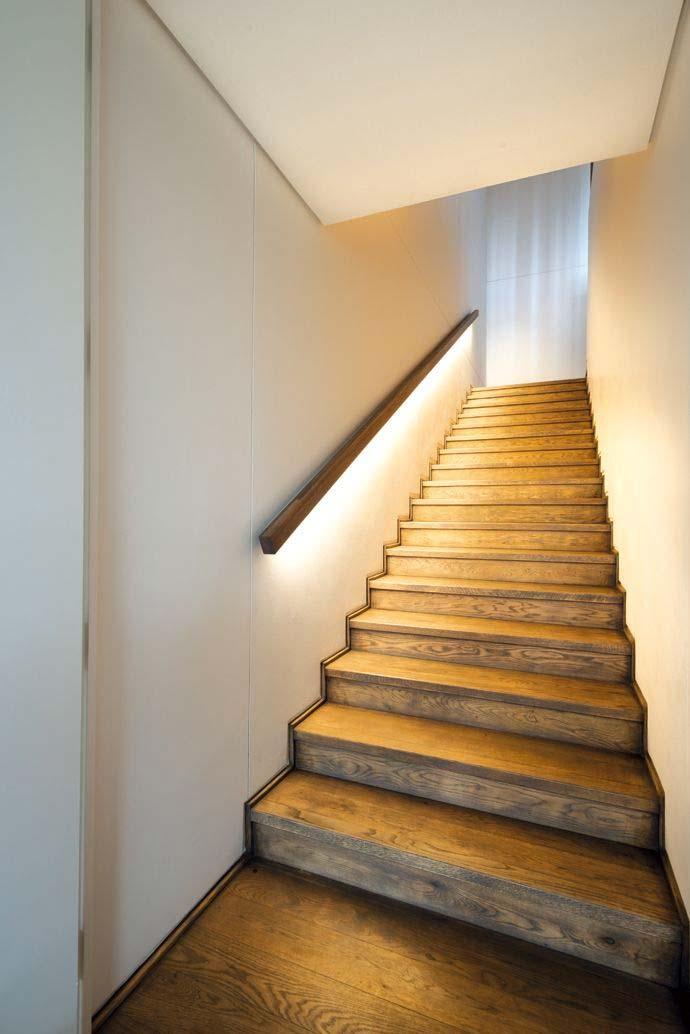 trap ideeën trapleuning met verlichting
