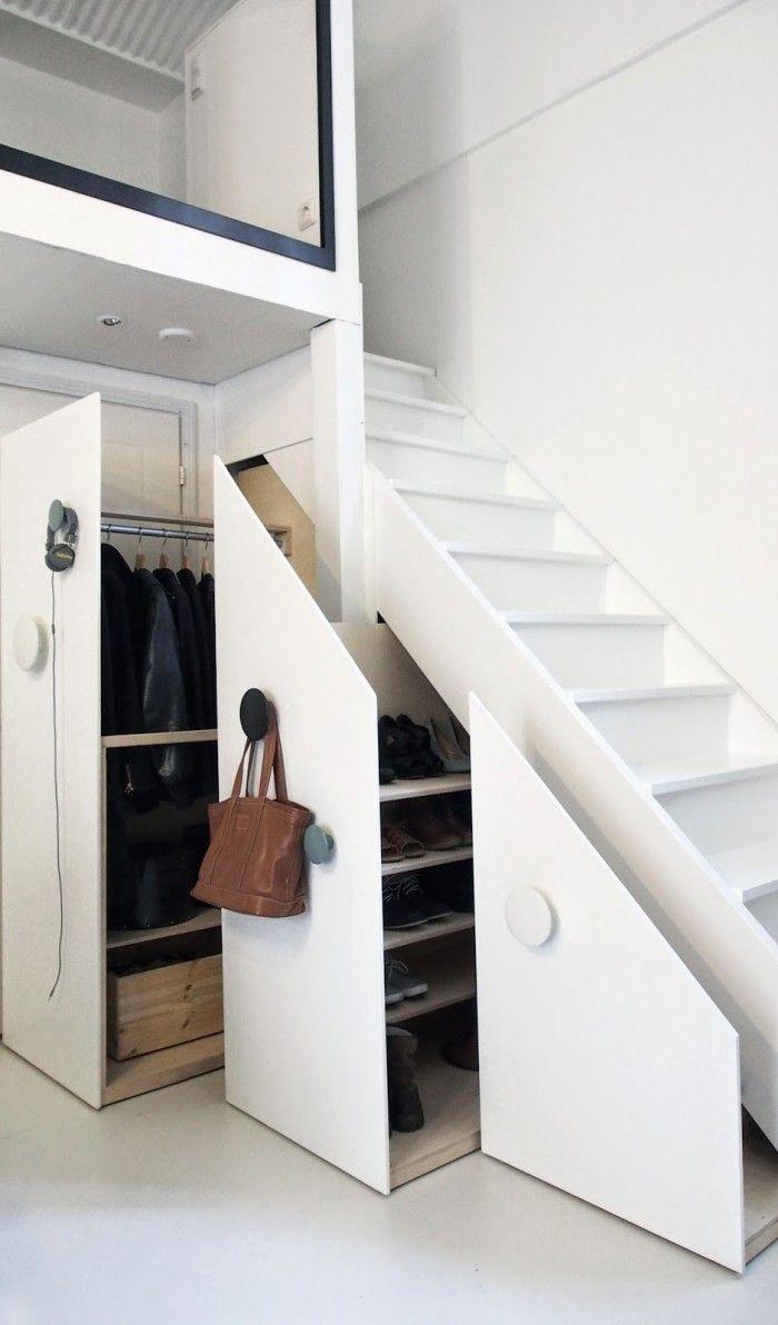 trapkast uitschuifbare garderobekast