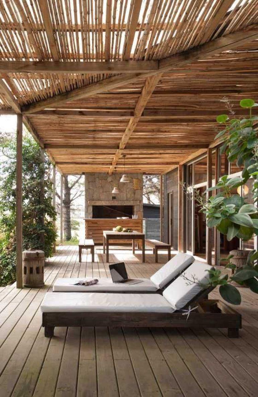 Tuin ideeën - bamboe tuinoverkapping