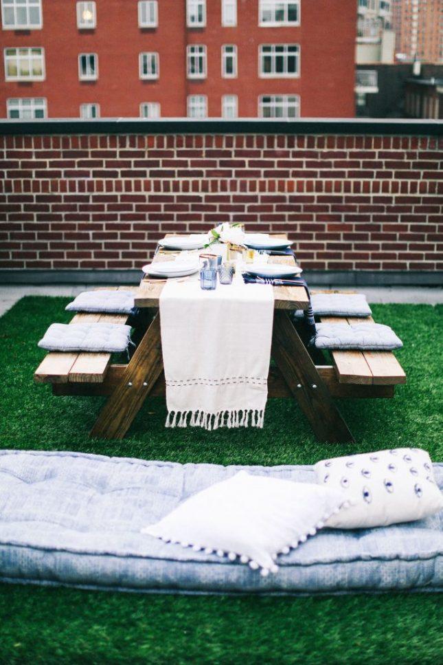 Tuin ideeën picknicktafel