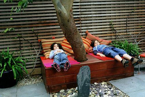 Tuin inspiratie van rijtjeshuis in Londen