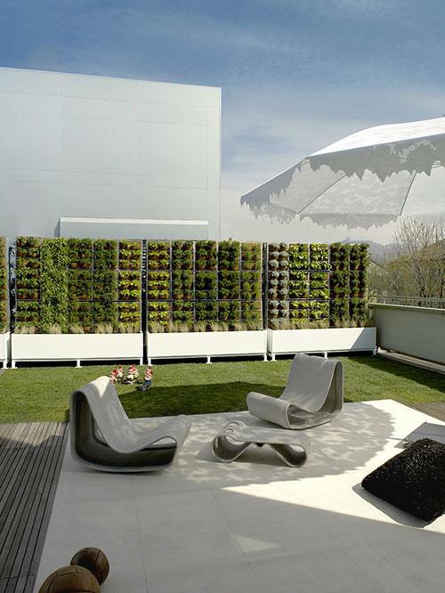 Tuin van een penthouse