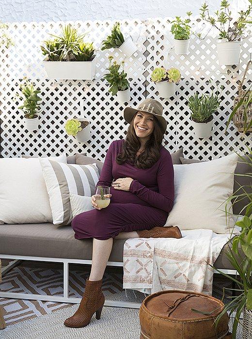Tuinfeest in de kleine tuin van Whitney