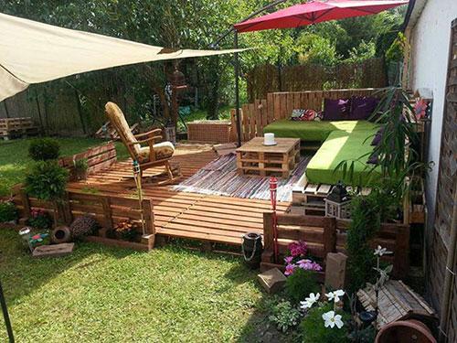 Tuinmeubelen van houten pallets