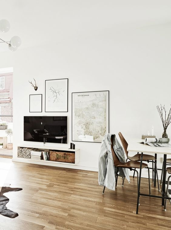Tv Kast Muur.Tv Ophangen Interieur Inrichting