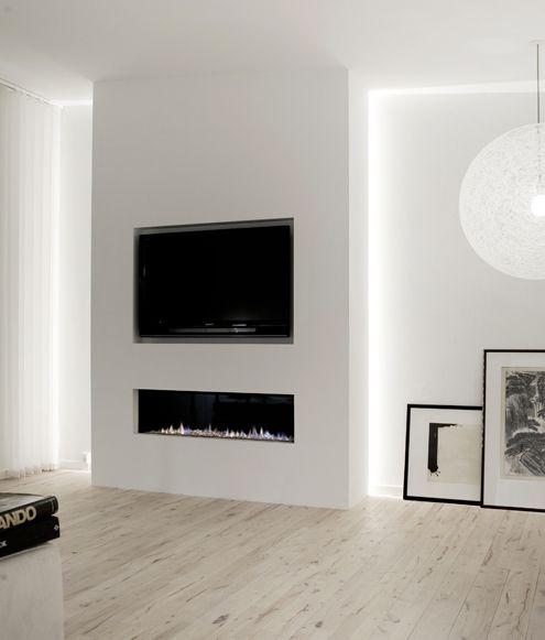 TV ophangen boven de open haard