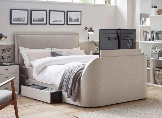 TV in bedframe