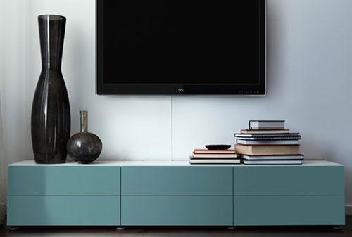 tv meubel in woonkamer interieur inrichting