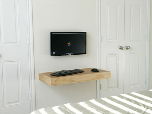 Tv meubel in woonkamer interieur inrichting - Muur plank onder tv ...