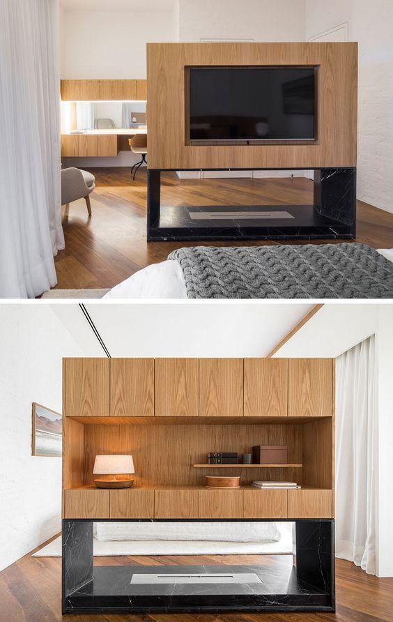 tv roomdivider slaapkamer