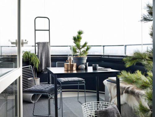 U-vormig inpandig balkon
