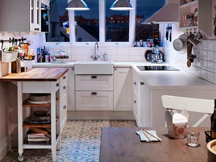 U-vormige IKEA keuken
