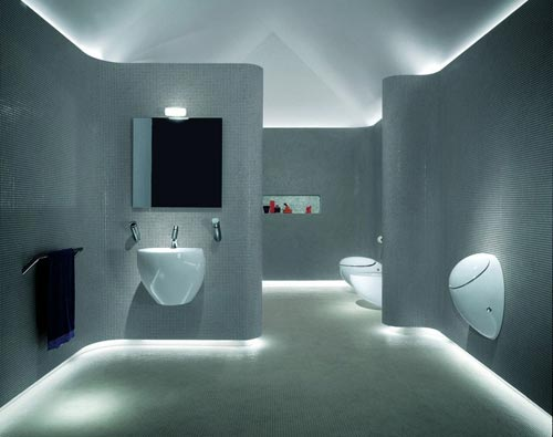 moderne badkamer met industrieel tintje interieur inrichting