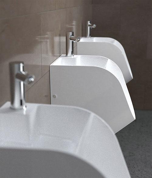 Urinoir in badkamer