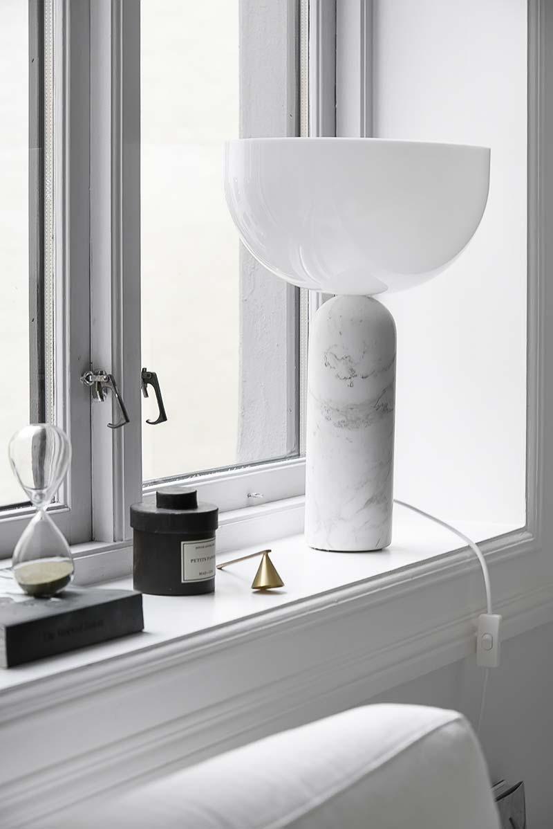vensterbank decoratie tafellamp
