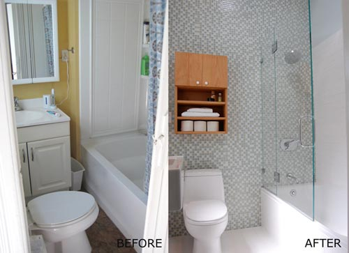 before and after small bathroom makeovers verbouwing kleine badkamer interieur inrichting 25033