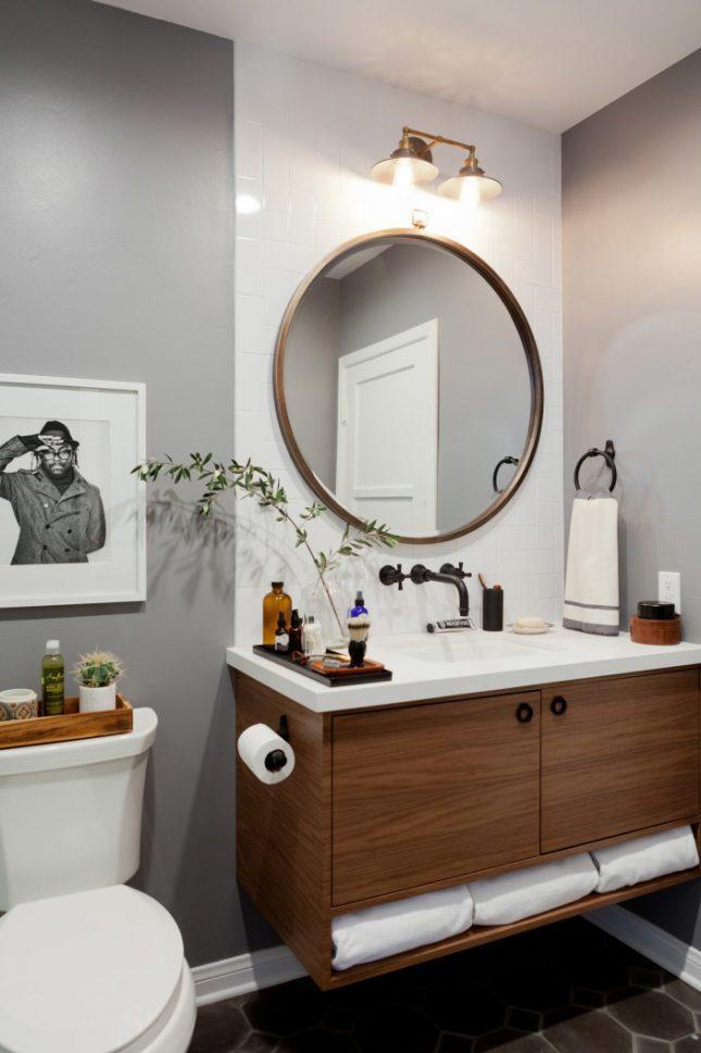 Verbouwing van een vintage badkamer interieur inrichting - Vintage badkamer ...