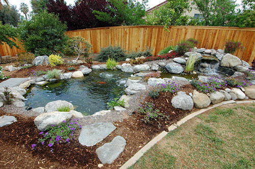 Vijver in tuin interieur inrichting for Small backyard pond designs