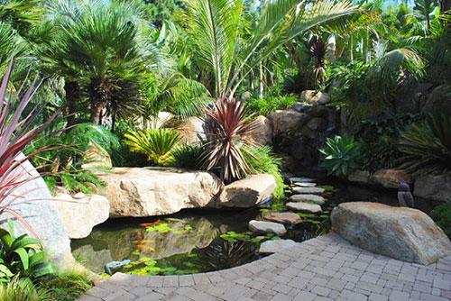 Vijver in tuin   Interieur inrichting