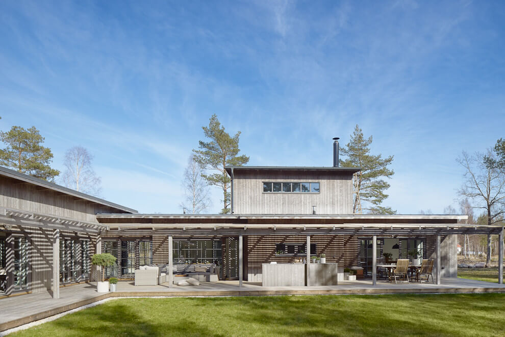 Villa tuin in Zweden