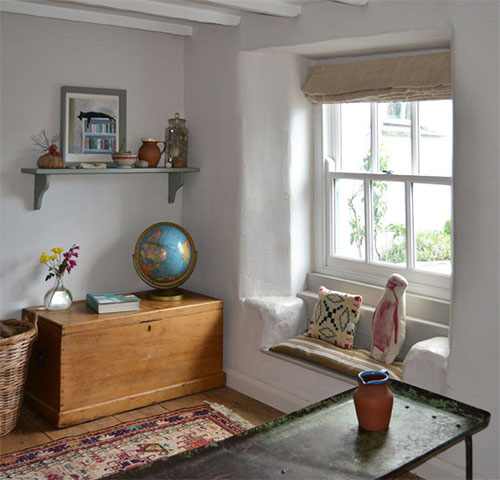 Vintage interieur van Rebecca & Andrew