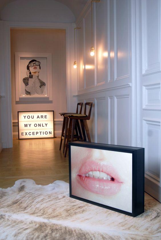 Vintage lightbox inspiratie