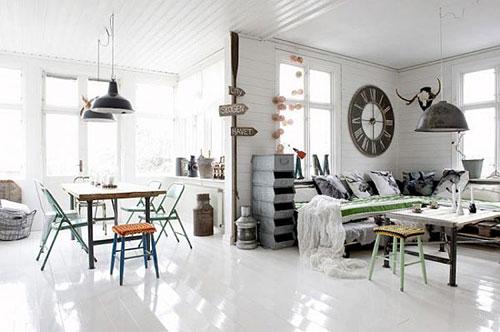 vintage woonkamer meubels interieur inrichting