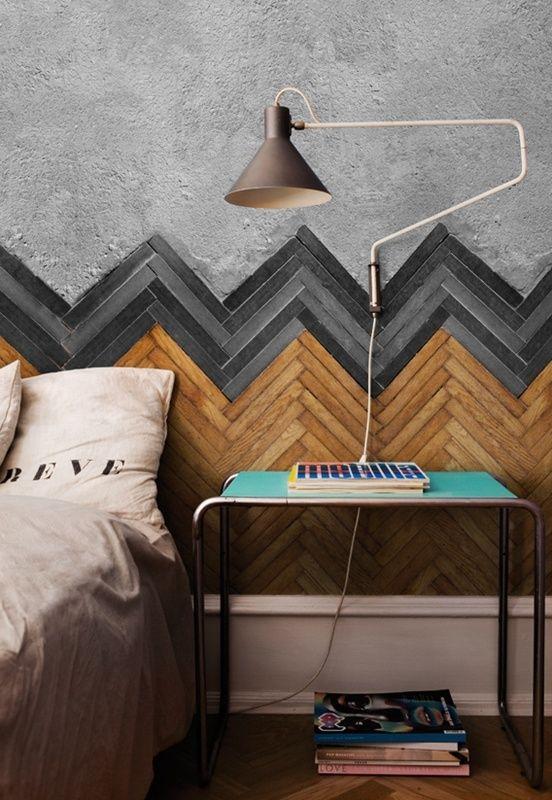 visgraat-muur-slaapkamer