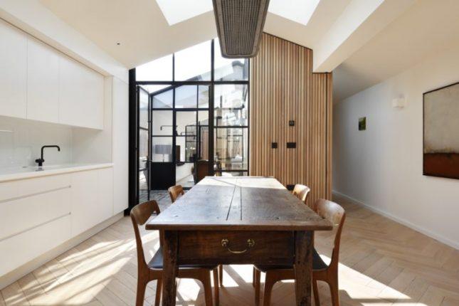 visgraat vloer brede planken keuken