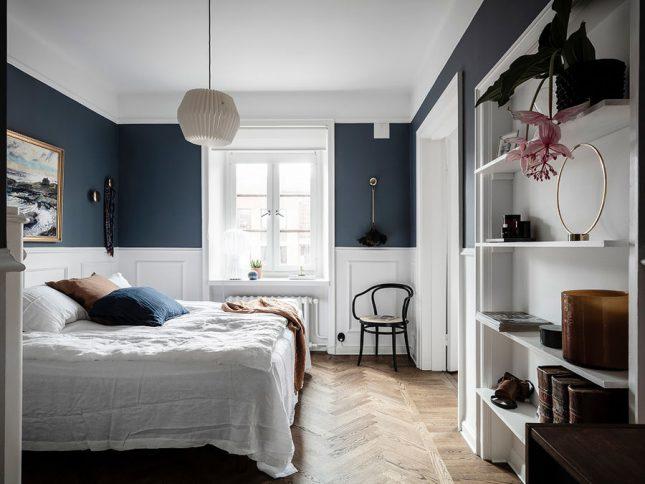 visgraat vloer slaapkamer donker