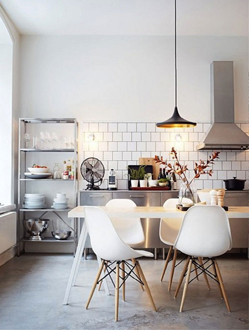 Vitra stoelen interieur inrichting for Witte eames stoel