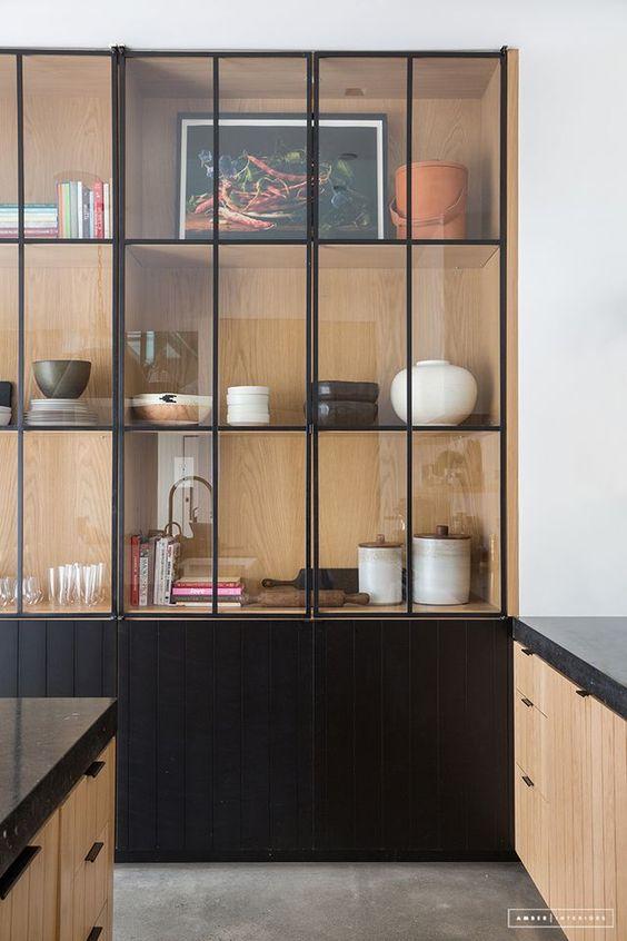 Vitrinekast Voor Keuken.Vitrinekast In De Keuken Interieur Inrichting