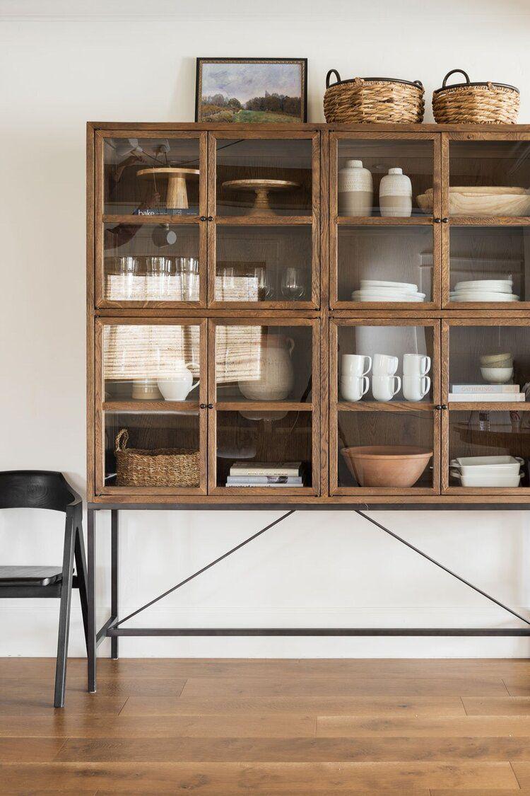 vitrinekast stylen tips hout