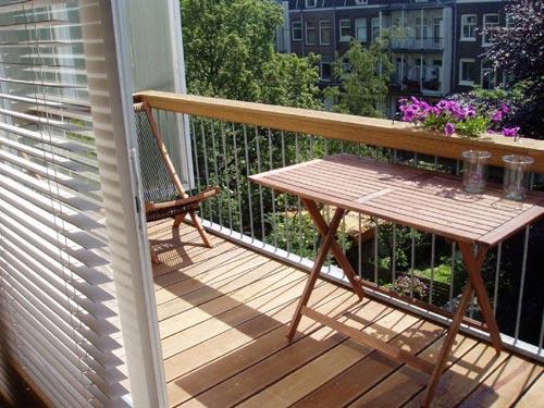 Vlonder vloer op balkon