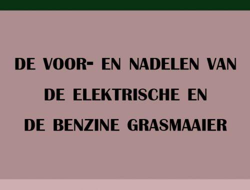 voordelen nadelen elektrische benzine grasmaaier