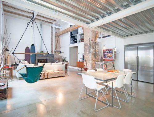 Voormalige zuivelfabriek tot droomhuis in Barcelona