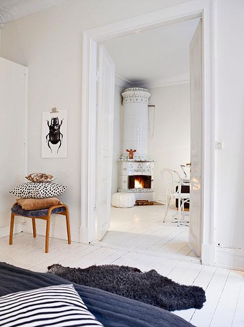 Warme gezellige witte woonkamer interieur inrichting for Warme woonkamer inrichting