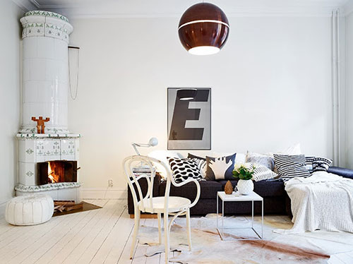 Warme gezellige witte woonkamer | Interieur inrichting