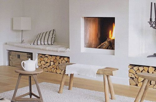 Warme tinten in een wit interieur