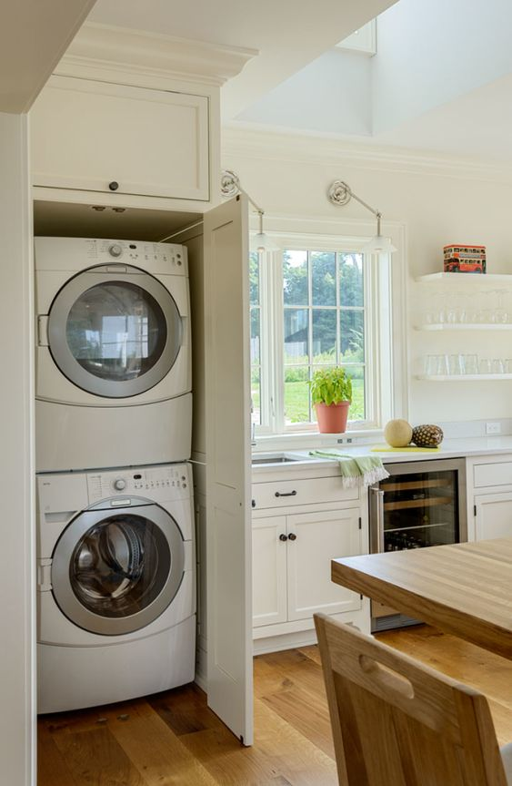 Wasmachine in keuken