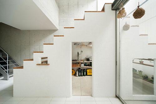 Werkplek onder de trap interieur inrichting - Deco woonkamer met trap ...