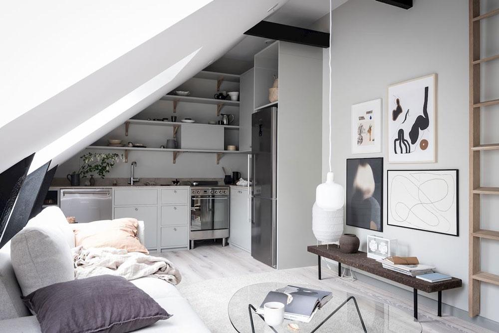 wit en grijze muren combineren