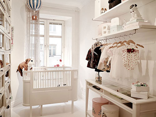 Witte babykamer interieur inrichting for Nursery room ideas for small rooms
