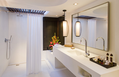 Witte Badkamer Interieur Inrichting