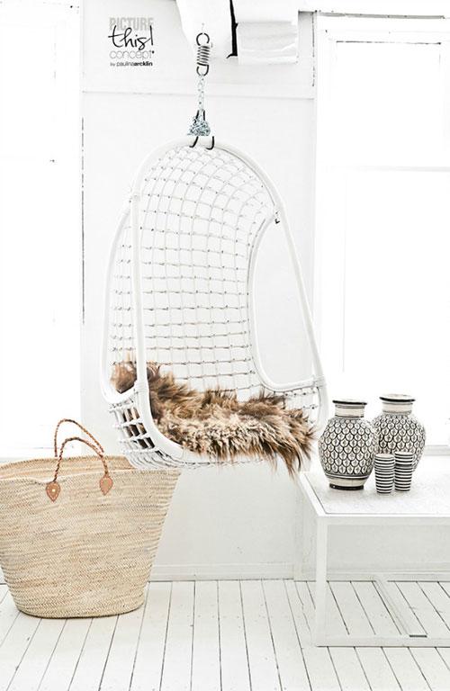 Witte Standaard Voor Hangstoel.Hangstoel Interieur Inrichting