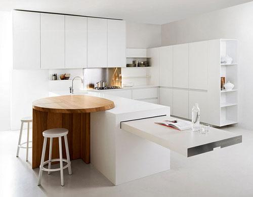 Witte Minimalistische Woonkeuken : Witte keuken van elmar interieur inrichting