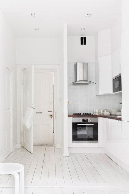 Witte keuken met houten vloer beste inspiratie voor huis ontwerp - Witte keukens houten ...