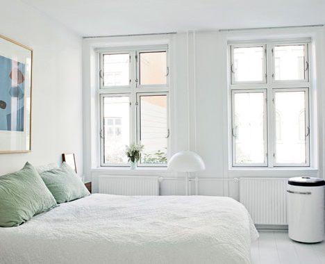 Witte Slaapkamer Inrichten : Betonstuc in slaapkamer interieur inrichting