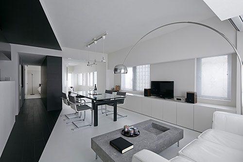 Witte woonkamer ideeën