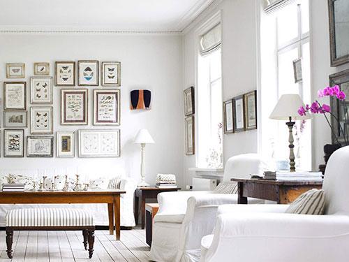 Witte woonkamer inrichten